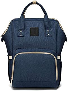 Diaper Bag Multi-Function Waterproof Travel Backpack Nappy Bags for Baby Care, Large Capacity, Stylish and Durable, Navy Blue