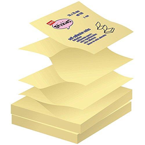 Staples Haftnotizen Stickies™ Sticky Z-Notes Quadratisch Block gelb 76x76mm 12 Blöcke x 100 Blatt