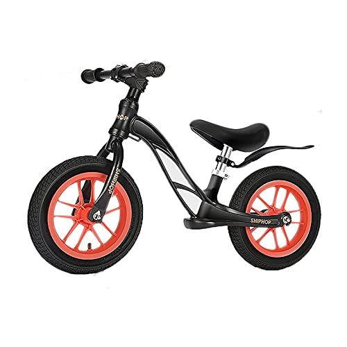 ELXSZJ XTZJ Bicicleta de Equilibrio para niños Ligeros, Bicicleta de Balance Deportiva de 12 '' para niños pequeños 18~48 Meses, 2~4 años con Asiento Ajustable y neumático neumático Absorbente