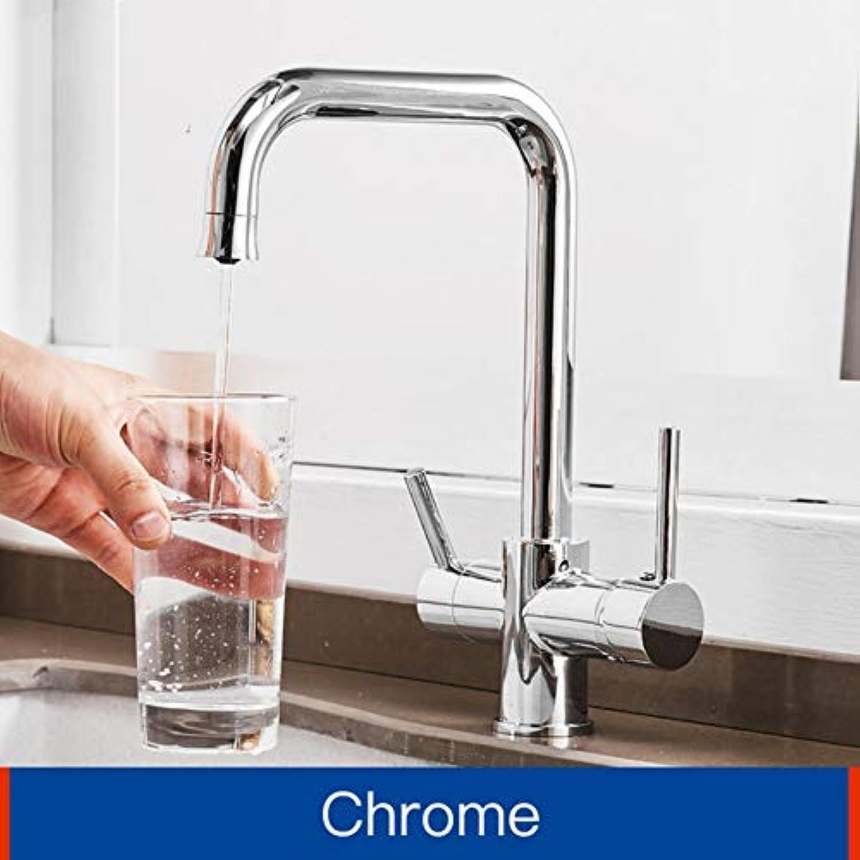 Lddpl Schwarz Küchenarmaturen Trinkwasser Filter Wasserhahn Dual Griff Hei Kalt 3-Wege Filter Küchenmischbatterien