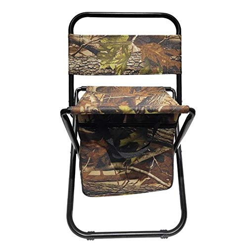 Outdoor Klapstoel Portable Chair Fishing Multi-Functionele isolatie met koeltas Kruk Opvouwbare Fishing Chair - Camouflage