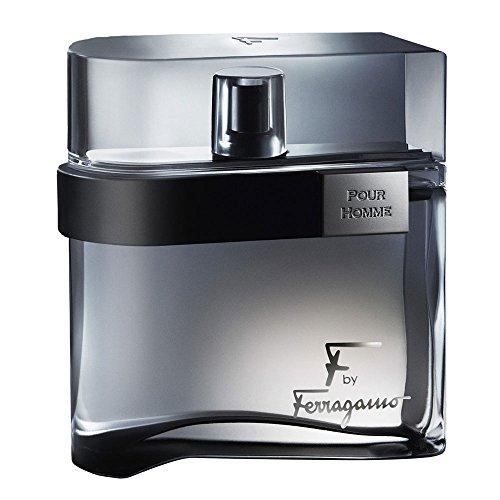 Ferragamo F Black Eau De Toilette Spray For Men, 3.4 Ounce