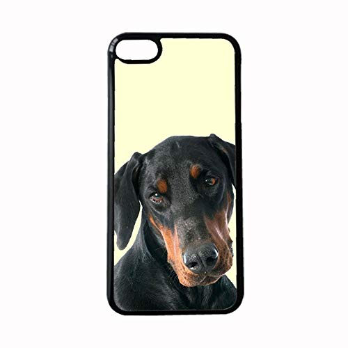 Compatible With Iphone 7 8 Apparent Plastic Phone Shells Design Doberman Pinscher Womon Choose Design 115-3