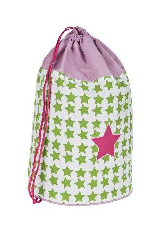 LÄSSIG Kinder Sporttasche Mädchen Junge Schule Kindergarten Sportbeutel Seesack / School Sportsbag, Starlight magenta