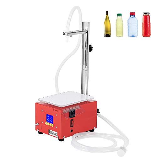 Hanchen Máquina de Llenado de Líquidos Automática 3.8L/min Llenadora de Botellas Resistente a la Corrosión con Balanza Sensor Inteligente para Aceite Alcohol Perfume