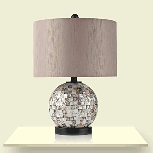 BTDB Europäische Kugel tischlampe, mediterrane Muschel Lampe, Schlafzimmer Nacht Wohnzimmer kreative Studie schreibtischlampe