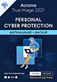 Acronis True Image 2021-Ciberprotección personal-Copia de seguridad y antivirus integrados-1 TB-1 PC/Mac-Android/iOS-1 año-Premium Edition-1 User-12 Meses-PC/Mac-Código activación enviado por email