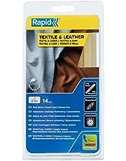 Rapid Lijmsticks voor textiel en leer, 14 lijmsticks 190 mm lengte, speciale lijm, hete lijm voor lijmpistool 11 mm, 12 mm