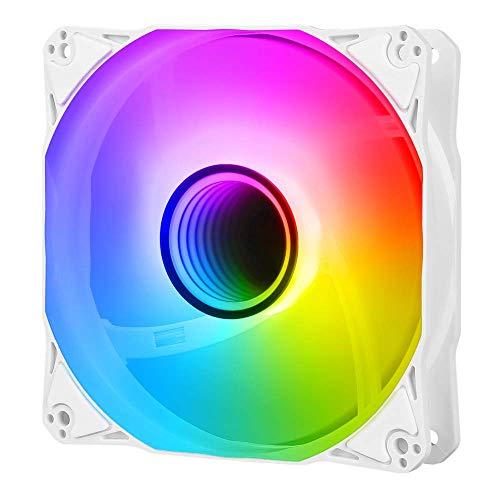 Antec Ventiladores RGB direccionables, ventilador de caja de 120 mm, ventiladores de PC ARGB, serie Infinity individual