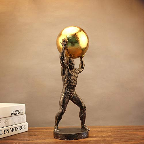 DAMAI STORE Adornos De Caracteres De Resina Accesorios De Oficina Artesanías Escultura Sencillo Y Moderno Dones Creativos Adornos Hércules (Color : C)