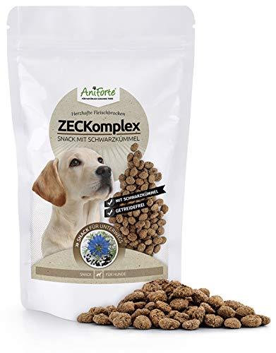 AniForte ZECKomplex Zeckensnack für Hunde 150g - Zeckenschutz für Hunde, Naturprodukt mit Schwarzkümmel, Zeckenschild mit extra hohen Fleischanteil, frische Schwarzkümmelsamen, getreidefrei
