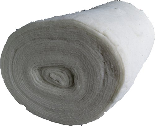 Woll Volumenvlies aus Schafschurwolle 150g/m², 1,5 m breit, 2,5 m lang, ca. 15 mm dick, 3,75 m², (EUR 6,63/m²), Patchworkvlies, Vlies, Meterware, waschbar, geeignet als Füllmaterial Schurwollvlies