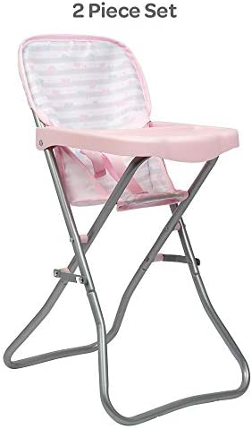 Adora Baby Doll Accessories Pink High Chair Can Fit Up to 16 inch Dolls 20 5 inches in Height product image
