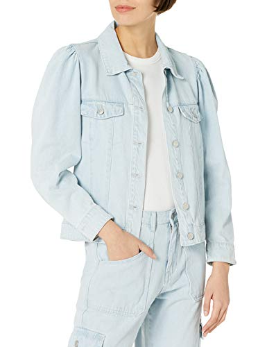 KENDALL + KYLIE Women's Puff Sleeve Denim Jacket - Amazon Exclusive