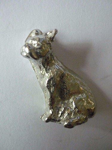 Franse Bulldog hond tg8 gemaakt van Solid Fijn Engels Tinnen Koelkast/bureau Magneet memo magneet fancy gepost door ons geschenken voor alle 2016 van DERBYSHIRE UK