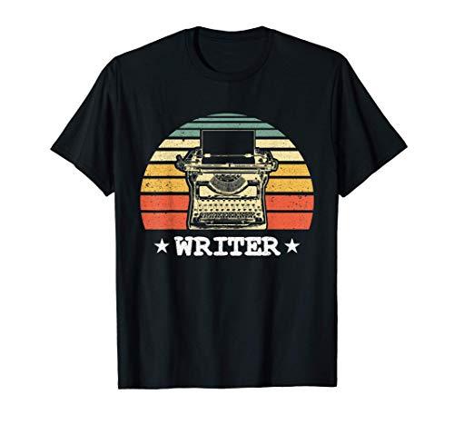 Vintage Typweriter Sunset Graphic T-shirt for Writers