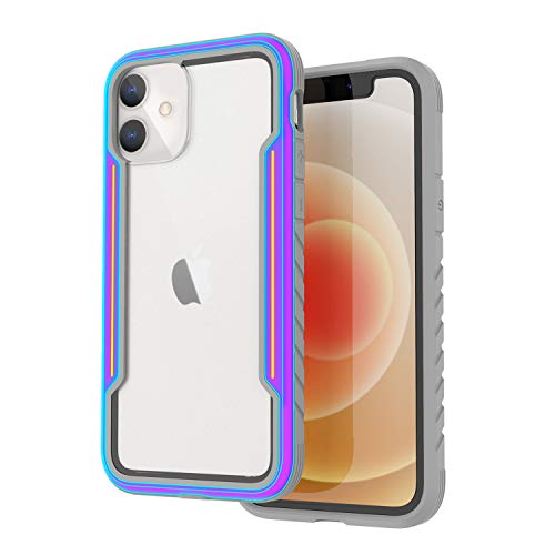 VORCSBINE Rugged Case for Apple iPhone 12 Mini Cute, Military Grade Protective Shockproof Case iPhone 12 Mini 5.4 inch Support Wireless Charging-Iridescent