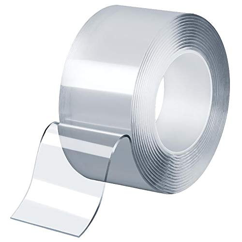 Snifu 最新型 はがせる粘着テープ 水で洗い可能 繰り返し使える取り外し可能 のり残らず透明 強力粘着 屋内 屋外 車輛用 再利用可能(幅30mm*厚さ2mm*長さ2m)