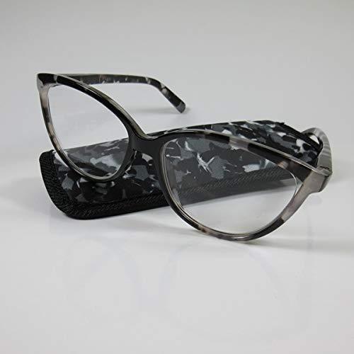 KOST Moderne große Damen Lesebrille +2,5 schwarz Flexbügel & Etui Fertigbrille