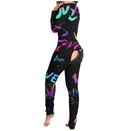 Mono de pijama para mujer y hombre, mono de pijama con solapa, pijama de una pieza, pantalones con mangas largas y ropa de dormir larga con solapa abotonada para adultos