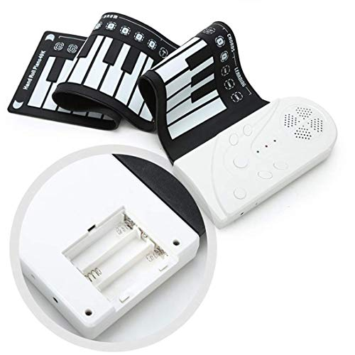 Fantastic Prices! Elrido Portable Roll Up Piano 49 keys Electronic Piano Hand Roll Piano - 24pcs Fle...