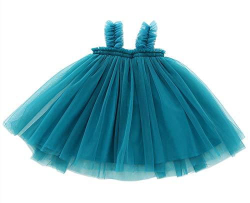 LYXIOF Baby Girls Tutu Dresses Sleeveless Princess Dress Infant Tulle Dress Toddler Sundress Blue 18 Months