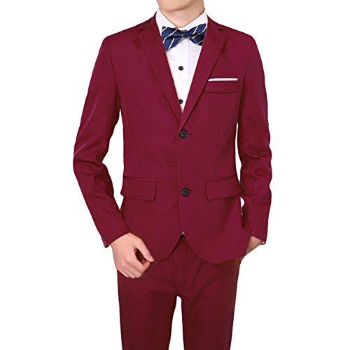 Herren-Kostüm mit 3 Teilen, selbstaufbauend, professionelle Kleider, Brautkleid, Hochzeitskleid, Tops, Weste, Hose, 3 Farben erhältlich XXXL Weinrot