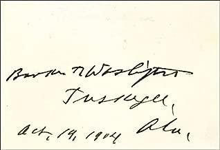 Booker T. Washington - Signature 10/19/1904