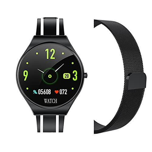 ZGLXZ Ratón del Corazón Smart Sports Watch Reloj A Prueba De Agua para Hombres Y Mujeres 1.22 Pulgadas Touch Completo Bluetooth Reloj Inteligente para Android iOS,G