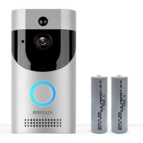 Video Doorbell,Arroux Wireless Smart WiFi Video Doorbell 720P | HD WiFi Doorbell Wireless Front Door Camera | Operated with Motion Detector Audio&Speaker (Silver)