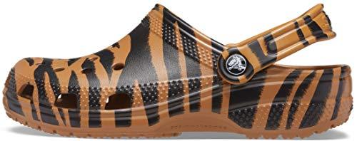 Crocs Zuecos clásicos con Estampado Animal para Mujer y Hombre, Unisex, diseño de Cebra y Leopardo, Color, Talla 45/46 EU