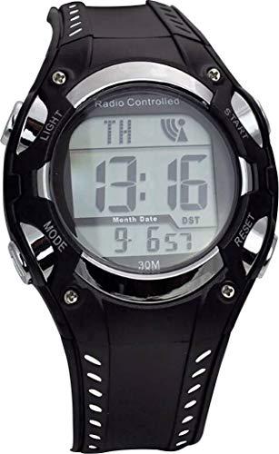 Eurotime Funk Armbanduhr 1681987 (Ø x H) 40mm x 16mm Schwarz/Silber Gehäusematerial=Kunststoff Mat
