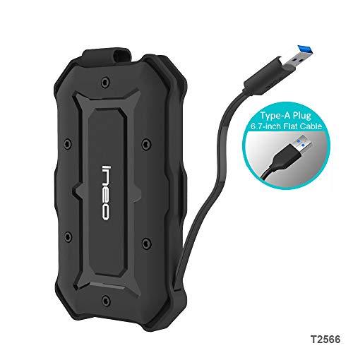 USB 3.0 SATA Wasserfestes Festplattengehäuse für 2,5'' Festplatte - PeakLead Externes Festplatten Gehäuse, IPX6 Wasserbeständig, IP6X Military Stoßfest Case für SATA HDD SSD Hard Drive, Type A Kabel