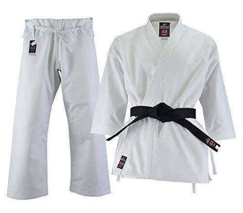 Malino Profi-Karate-Anzug Erwachsene Männer Uniform Leinwand 14oz eine Seite gebürstete Einzelhose weiß Größe 165