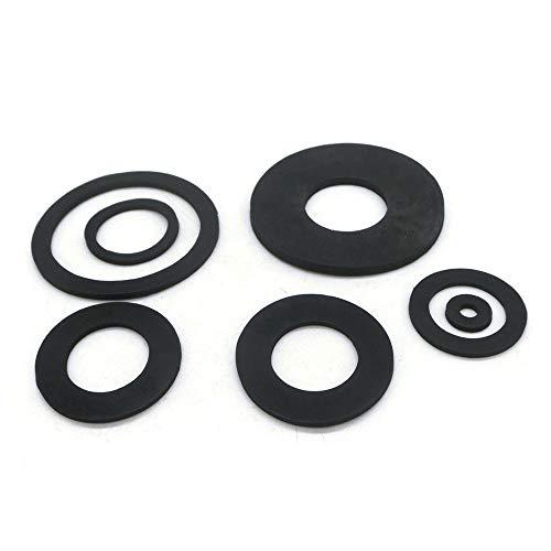 QINGRUI Seal kit 2mm 10pcs / Gummiflachdichtung Dichtungsscheibe NBR Ring Bellows Zulaufschlauch 1/4
