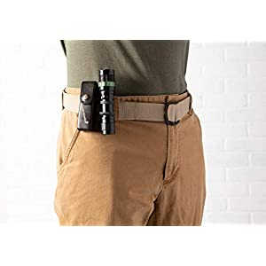 """E-Living Store Men's and Women's Canvas D-Ring Belts With Metal Tip, (Available in Multiple Solid Colors & Sizes), Khaki, XXX-Large (Waist Size 52-54"""")"""