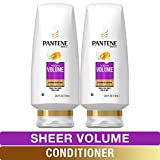 Pantene, Sulfate Free Conditioner, Pro-V Sheer Volume for Fine Hair, 24 fl oz, Twin Pack shampoo sulfate Feb, 2021
