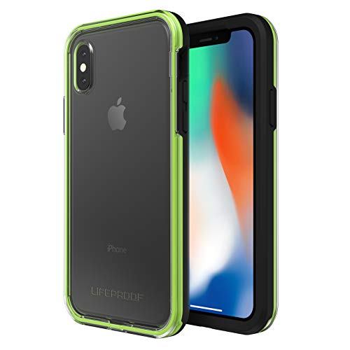 Lifeproof SLAM Series Case for iPhone X (ONLY) - Retail Packaging - Night Flash (Clear/Lime/Black)