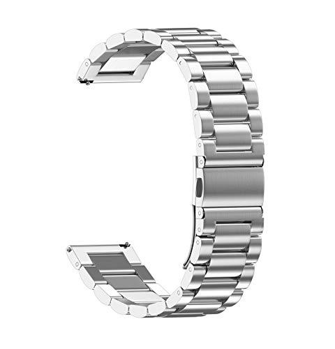 FAAGFC Correa de metal para correa Haylou Solar LS05 Band Smart Watch Pulsera Correas para XiaoMi Solar LS05 LS02 Correa de malla para cinturón (color: plata, tamaño: 20 para Haylou LS02)