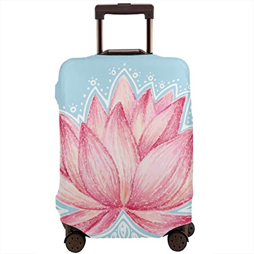 Travel Suitcase beschermhoes, tuin-motief, illustratie van lotusbloemen, decoratief design, wasbare hoes