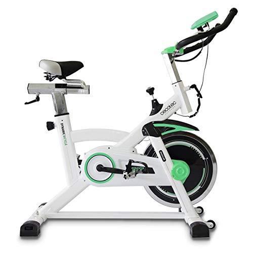 Cecotec Bicicleta Spinning Estática con Volante de Inercia de 16 Kg Extreme. Sistema Silence Fit, Pulsómetro, Manillar y Sillín regulable, Pantalla LCD, Ruedas, Peso máximo 120 Kg