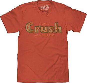 Tee Luv Distressed Orange Crush Shirt - Established 1906 Crush Soda T-Shirt  L