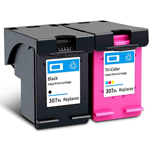 SXCD 307XL - Cartuchos de tinta para impresora HP ENVY 6010 6020 6030 ENVY Pro 6420 6430 de alto rendimiento compatible con impresora de inyección de tinta 4 colores (BK Y M C) 1 negro 1 tricolor