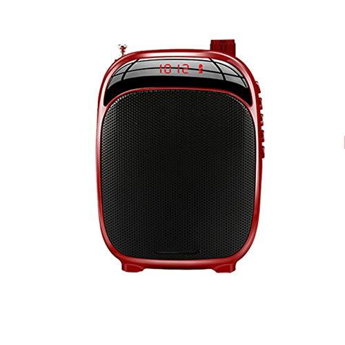LYA Spraakversterker, Megaphon-luidspreker voor buiten, draagbaar, draadloos, met microfoon, mini-radio, voor reizen en onderwijs