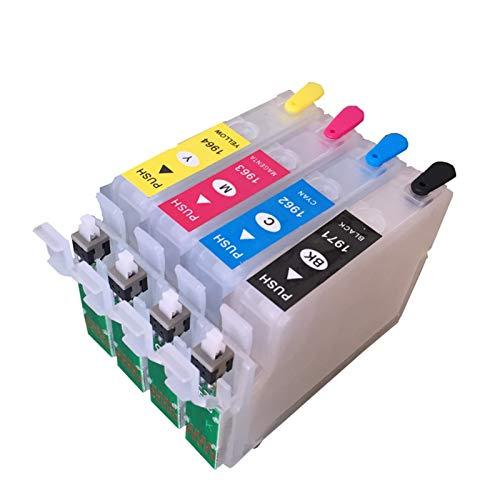 WSCHENG para EPSON XP214 XP101 XP211 WF-2532 196 197 Kit de Cartuchos de Tinta Recargable no OEM