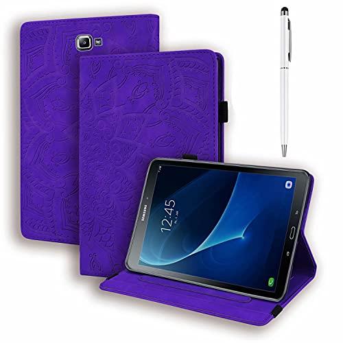 HUOCAI Funda Compatible con Galaxy Tab A6 10.1 2016, Fundas Cubierta de PU Cuero Multiángulo Case Cover Protectora Carcasa con Stand para Galaxy Tab A 10.1 Pulgadas SM-T580N/T585N - púrpura