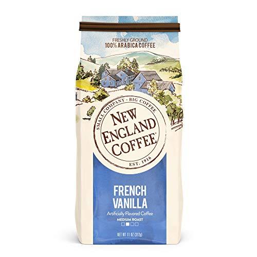 New England Coffee French Vanilla Medium Roast Ground Coffee 11 oz. Bag