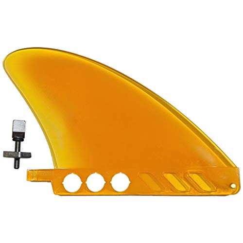 US box center fin Safety Flex Soft 4.6' for River SUP / longboard / airSUP / saruSURF - Yellow by saruSURF