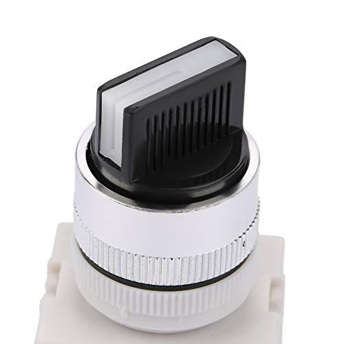 Selector de posición de perilla de dos pasos con bloqueo automático confiable NO + NC Interruptor giratorio estable para control