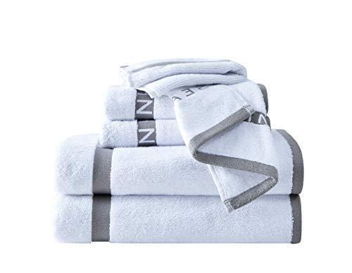Sean John Block - Juego de toallas (6 unidades), color gris